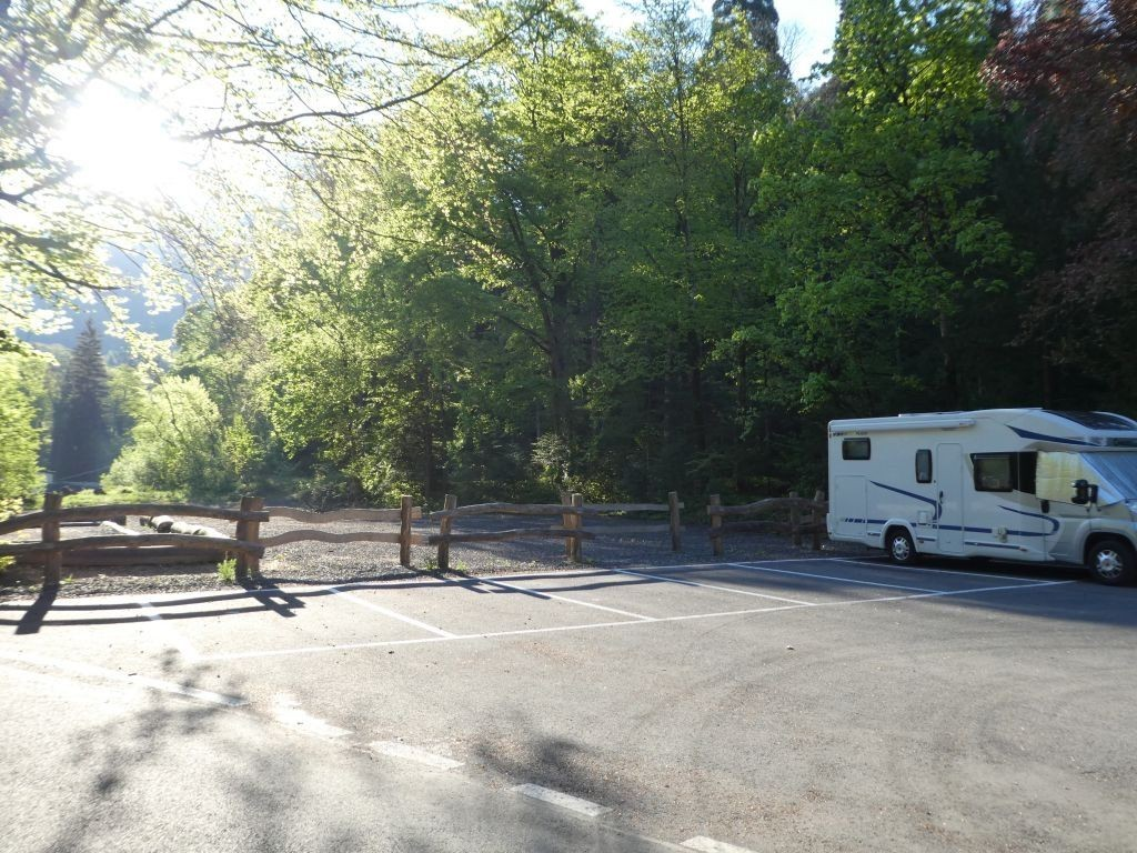 Parkplatz bei Aigle
